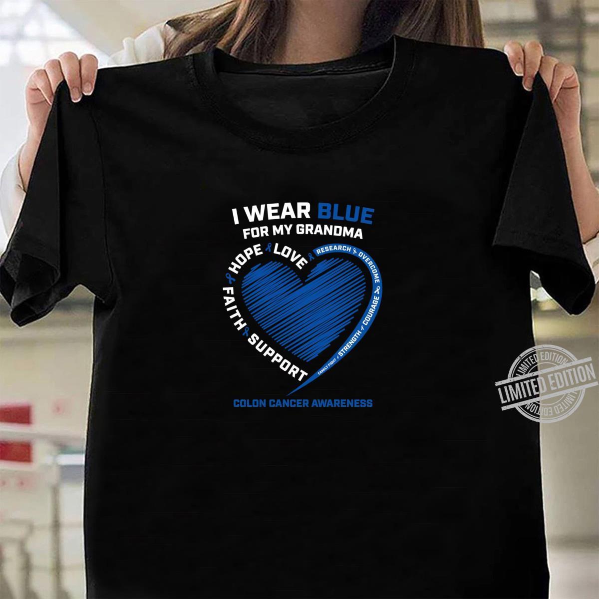 I Wear Blue For My Grandma Colon Cancer Awareness Shirt
